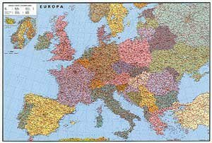 Evropa silniční - nástěnná mapa (1)